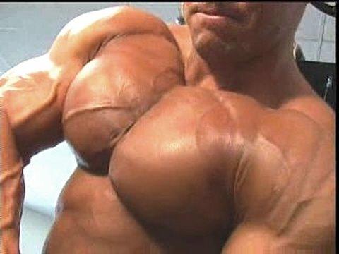 men with massive pecs