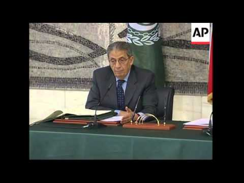 """Arab League chief Amr Moussa says """"Annapolis collapsing"""""""