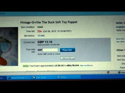 How to snipe an auction on eBay aka win more and pay less