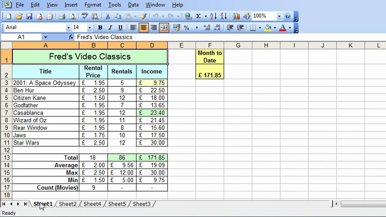 Microsoft Excel Tutorial For Beginners 31