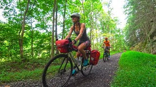 Cycling The Erie Canal to New Paltz-Ryan and Ali Bike Across America-Ep 33