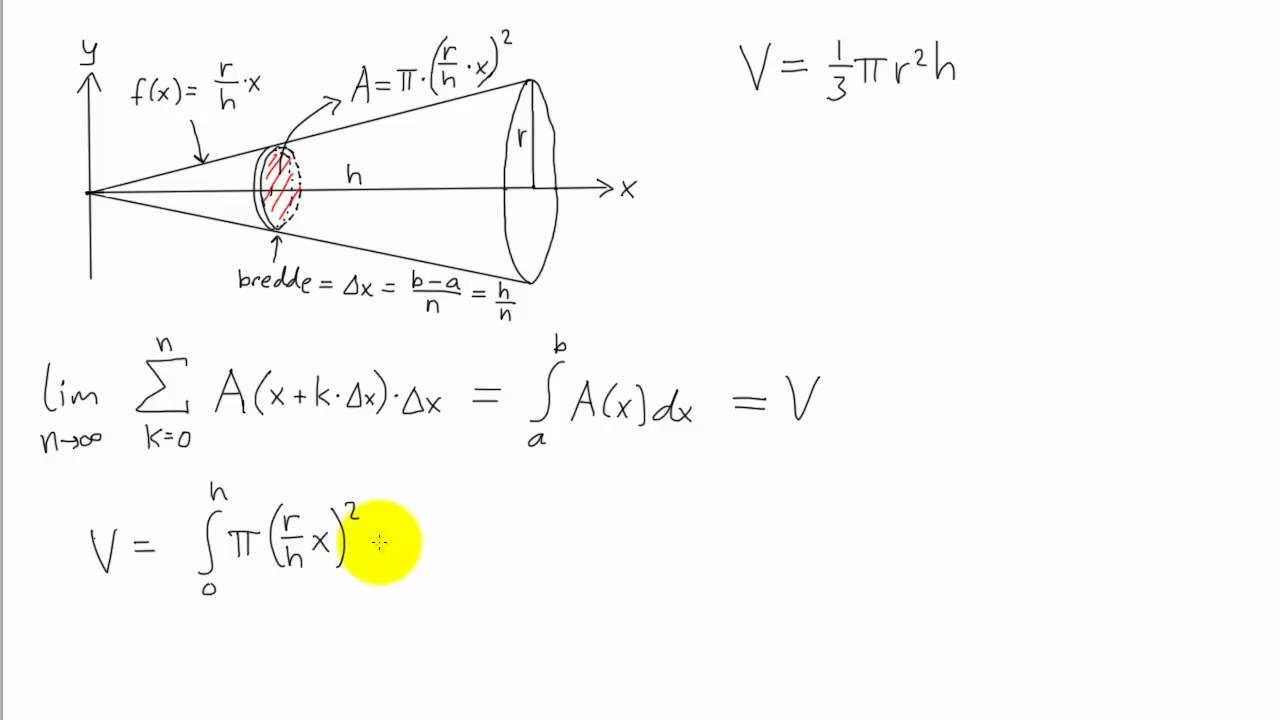 Matematikk R2 - 011 - Volum av omdreiningslegeme