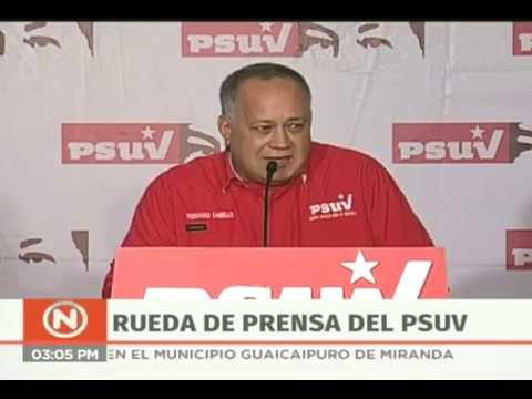 Diosdado Cabello, rueda de prensa del PSUV completa, 7 enero 2019