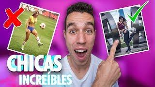 REACCIONO a CHICAS INCREÍBLES jugando al FUTBOL - Futbol callejero & Futbol freestyle
