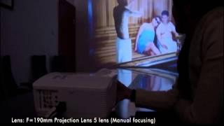 720p High HD Projektor - 3000 Lumenów LED 1280 x 768 Res