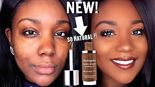 NEW Neutrogena Hydro Boost Foundation Review + Demo For Acne Scars/ Dark Skin 2017