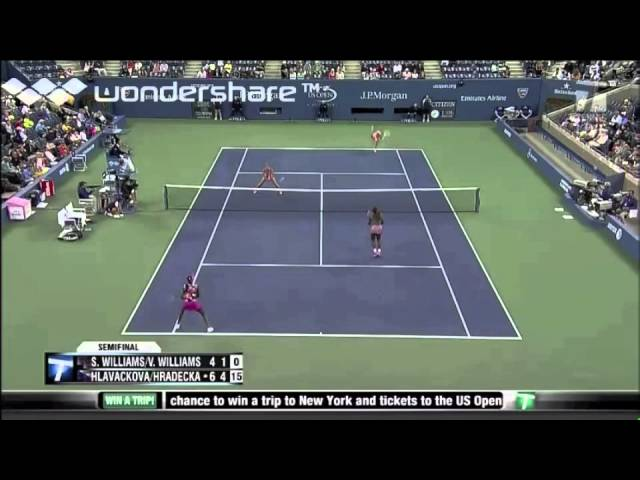 2013 US Open semi-final - Hlavackova/Hradecka vs. Williams/Williams