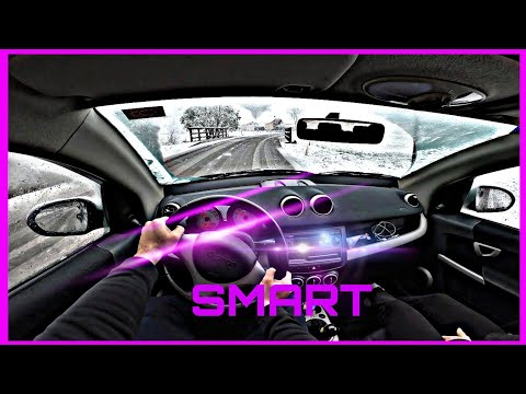 Smart ForFour Drive In April Snow Weather