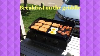 Breakfast on the Royal Gourmet portable griddle