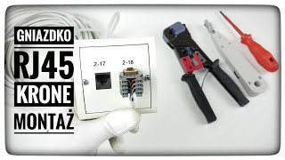 Jak podłączyć gniazdko sieciowe RJ45 UTP za pomocą noża Krone? Sieci Komputerowe
