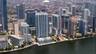 Miami Downtown, Miami Beach and Key Biscayne Aerial Tour