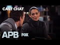 Justin Kirk & Natalie Martinez Get To Know Each Other In The FOX Lounge | Season 1 | APB