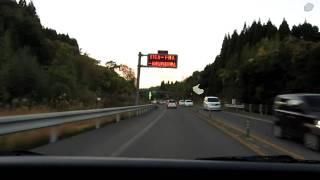 最高に夕日の美しい九州自動車道隼人道路 国分IC~加治木IC