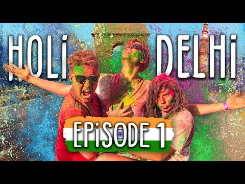 Travel India on $1000 | Ep1 Delhi Holi Festival is AMAZING