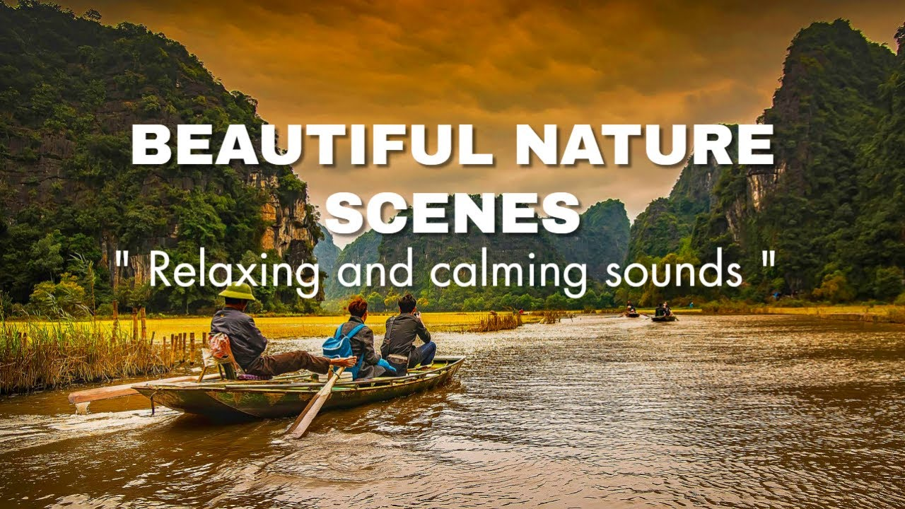 Beautiful Waterfalls and Drone Nature View With Relaxing Piano Music