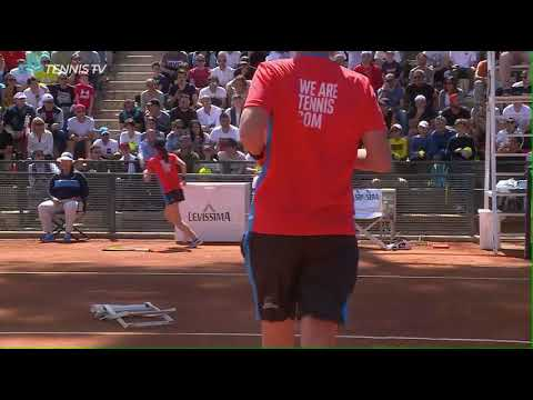 Nick Kyrgios Racquet, Chair & Bottle Abuse Rome ATP Masters 1000, 16 May 2019, New John McEnroe