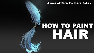 HOW TO PAINT HAIR 1