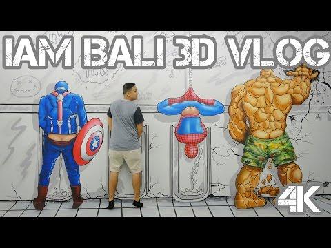 IAM BALI 3D Museum & Upside Down Bali VLOG 4K