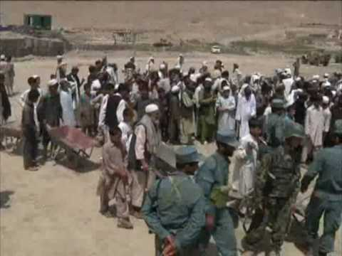 Afghan National Security Forces Assist Kabul Flood Victims