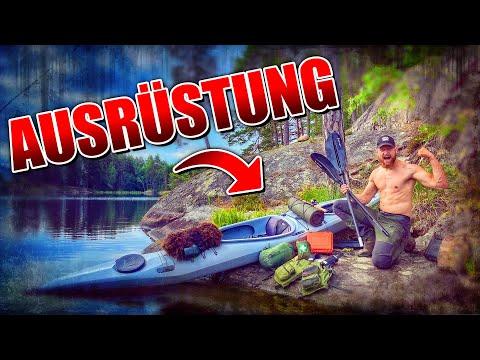 8 Tage Wildnis in SCHWEDEN #4 | Primitive Ausrüstung + Kajak | Bushcraft Survival | Fritz Meinecke