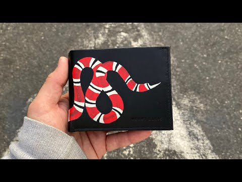 HOW TO MAKE A $500 GUCCI WALLET FOR ONLY $12!!!!! (GIVEAWAY)