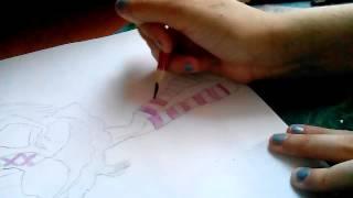 Как нарисовать куклу Monster high