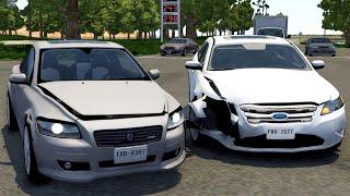 Crossroad Car Crashes #33 - BeamNG.Drive