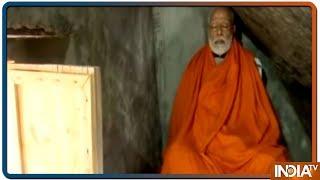 Prime Minister Narendra Modi meditates at holy cave Garud Chatti Kedarnath