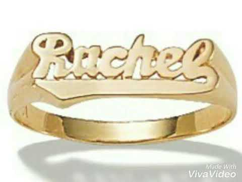 Name Ring Customers Initial Ring Gold Initial Ring Designs Youtube