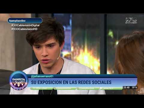 Julián Serrano mano a mano con Pampita en Pampita Online