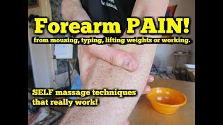 Forearm Pain from MOUSING or Typing on the Computer!