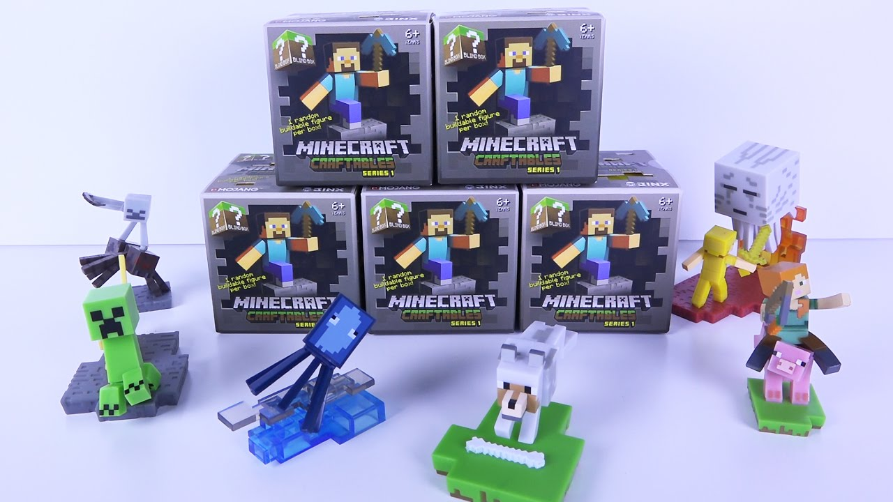 Minecraft Craftables Series 1 Blind Box Buildable Figures ...