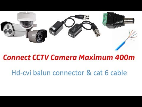 Connect CCTV Camera using Cat6 cable - YouTubeYouTube