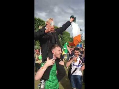 This local man is king of France as he parties with Ireland fans Euro 2016