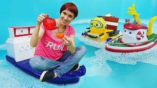 Мультик про кораблик Элаяс з іграшок. Відео з Машею Капуки