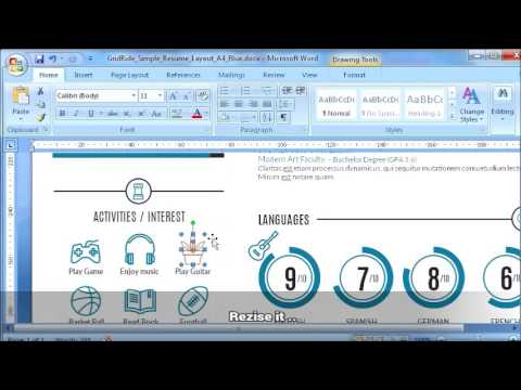 How to replace icon on resume template in Microsoft Word - #2 of 11 - resume on word