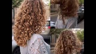 Вертикальная завивка волос локонами