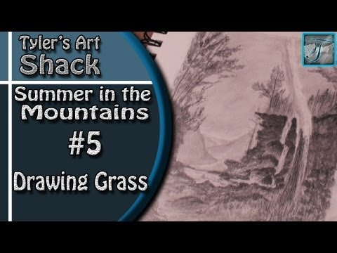 How to Draw - Summer in the Mountains Part Five - Adding Grass and Ground Texture