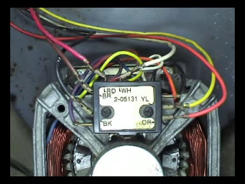 2 speed motor testing Maytag 2 belts top load washers - YouTube
