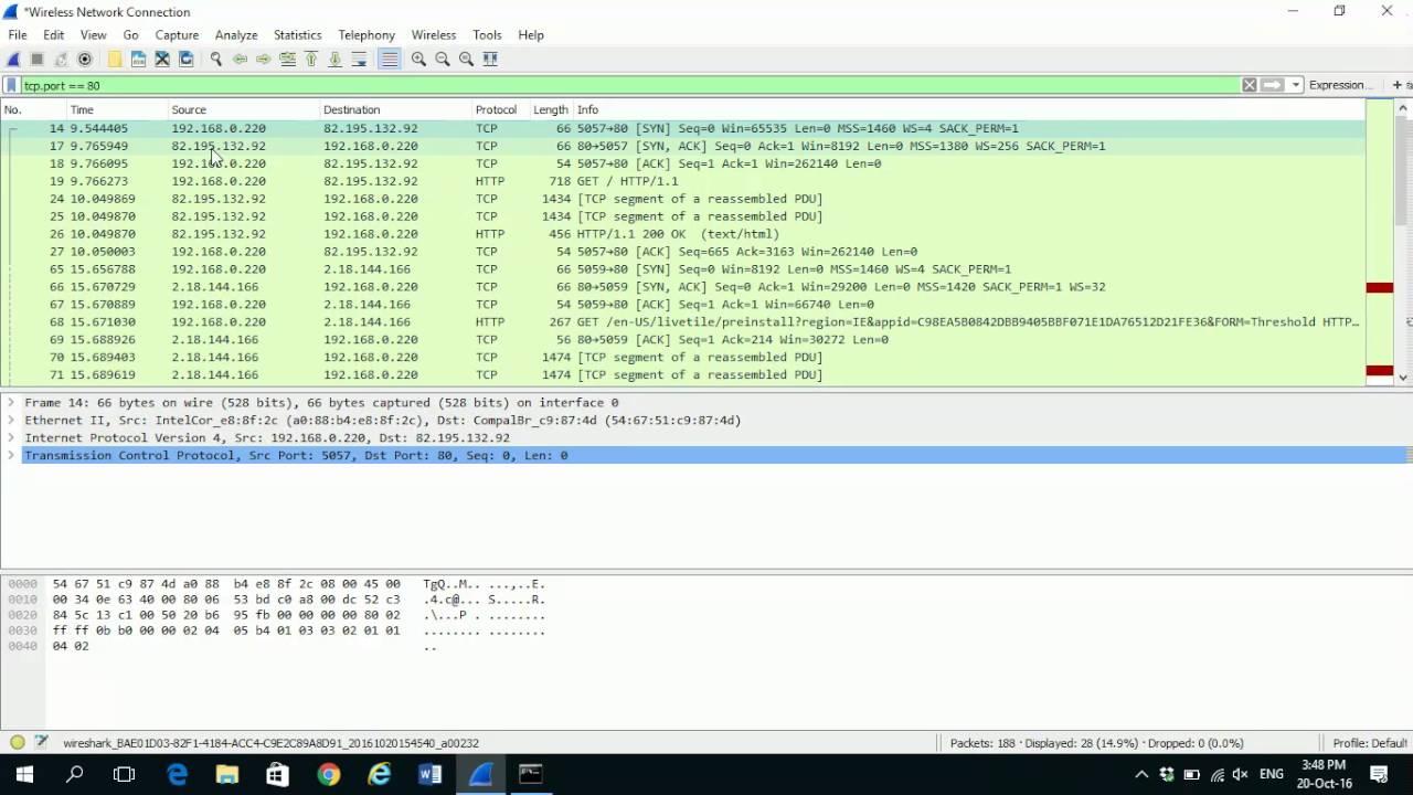Capture TCP 3 Way Handshake