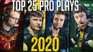 TOP 25 CS:GO PŔO PLAYS OF 2020! (THE BEST FRAG HIGHLIGHTS OF THE YEAR)