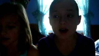 me and me 8 year old sis singing here comes goodbye