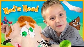 What's in Ned's Head Fun Family Game Time with Play-Doh Surprise Toys by KIDCITY
