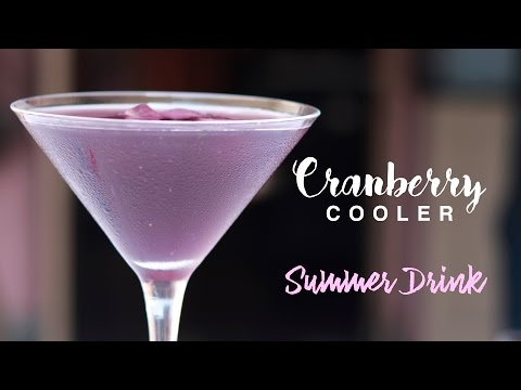 Healthy and Refreshing Cranberry Cooler a Summer Drink Easy Mocktail Recipes