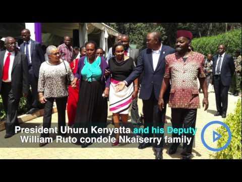 President Uhuru condoles Nkaiserry widow