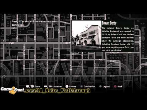 LA Noire - Star Map Achievement / Trophy Walkthrough PT1- All 30 Landmarks