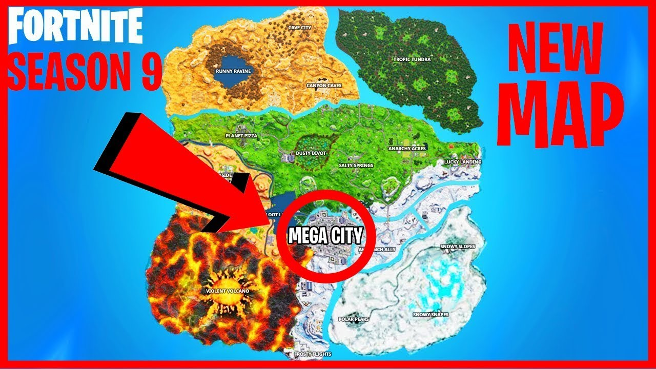 Season 9 Map Mega City Fortnite