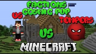 """FIGHTING AT TEMPERS BASE!"" Minecraft Factions Cosmic Pvp Jungle Planet w/Friends!"