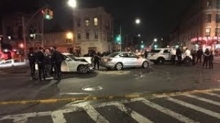 At least 8 injured when cars crash, slam into pedestrians in Brooklyn