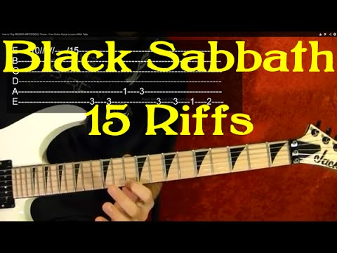 BLACK SABBATH Guitar Lesson - 15 Great Riffs!